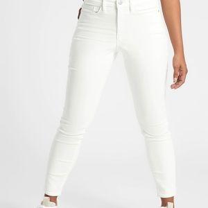 Athleta Sculptek high waisted skinny jean white 8P
